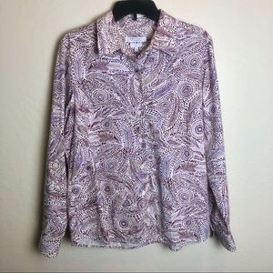 Foxcroft For Appleseed's Printed Blouse 16